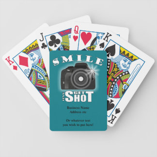 Smile and Get Shot Photography Humor Sarcasim Bicycle Playing Cards