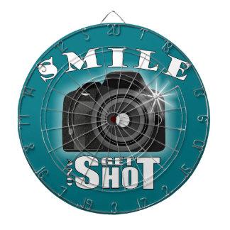Smile and Get Shot Photography Humor Sarcasim Dartboard