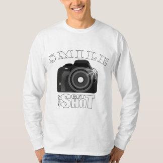 Smile and Get Shot Photography Humor Sarcasim T-Shirt