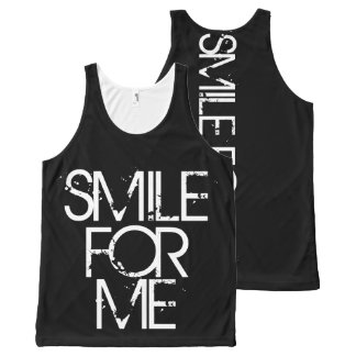 Smile For Me All-Over Print Singlet