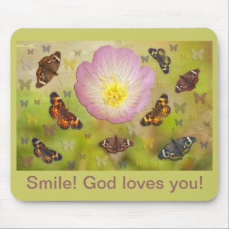 Smile God loves you Mouse Pad