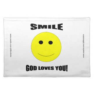 Smile God Loves You Table Placemat