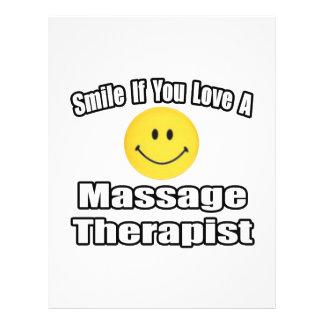Smile If You Love A Massage Therapist 21.5 Cm X 28 Cm Flyer