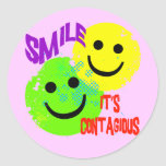 SMILE IT'S CONTAGIOUS STICKERS