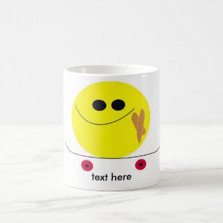 smile skater coffee mug