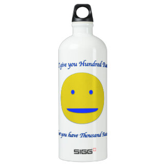 Smile to life water bottle