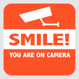 Smile You Are On Camera Square Sticker