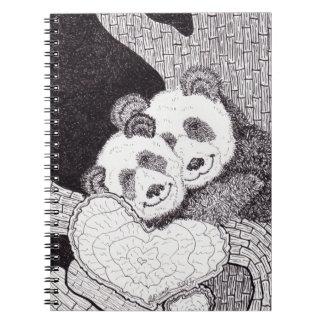 """Smiles & Hugs"" Panda Notebook"