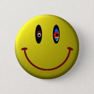 Smiley 6 Cm Round Badge