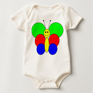 Smiley butterfly baby bodysuit