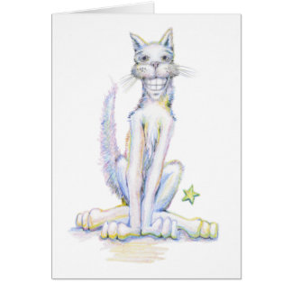 Smiley Cat Card
