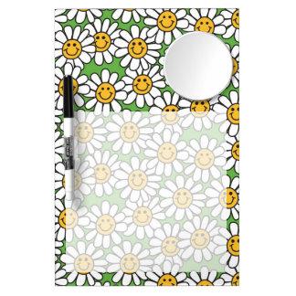 Smiley Daisy Flowers Pattern Dry-Erase Whiteboard