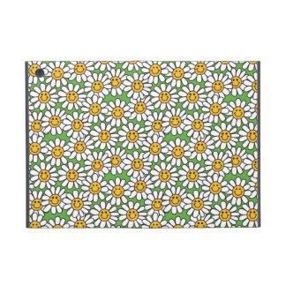 Smiley Daisy Flowers Pattern iPad Mini Covers