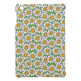 Smiley Daisy Flowers Pattern iPad Mini Cases