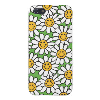 Smiley Daisy Flowers Pattern Cases For iPhone 5