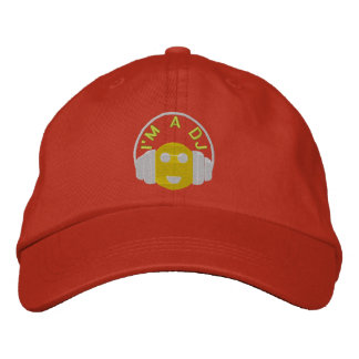 Smiley Dj Embroidered Hat Template