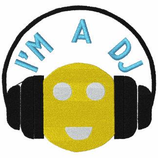 Smiley DJ Embroidered Long Sleeve Tee Template