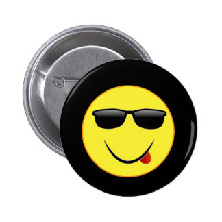 """""""Smiley Face 2"""" 6 Cm Round Badge"""