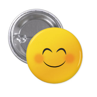 Smiley face 3 cm round badge