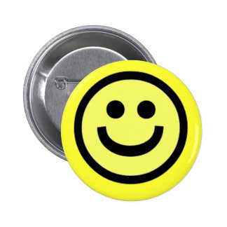 Smiley Face 6 Cm Round Badge