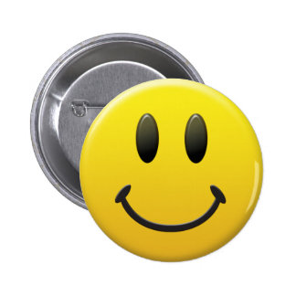 smiley face! 6 cm round badge