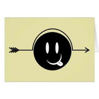 Smiley Face ~ Arrow Through Head Gag Card