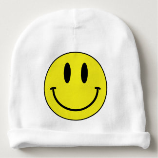 smiley face baby beanie