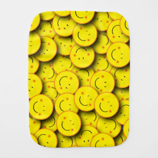Smiley Face Burp Cloth
