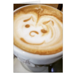 Smiley Face Coffee Latte Card