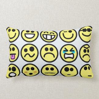 Smiley Face Emoticons Throw Pillows