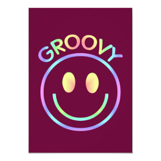Smiley Face Groovy Invitations