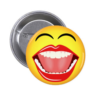 Smiley Face LOL Yellow Funny Custom Round Button