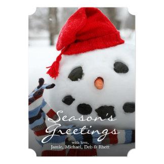 Smiley face snowman card