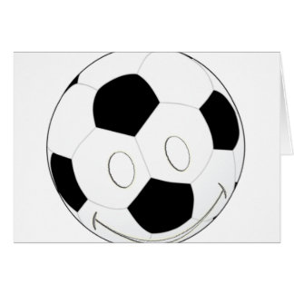 SMILEY FACE SOCCER BALL CARD