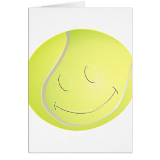 SMILEY FACE TENNIS BALL CARD