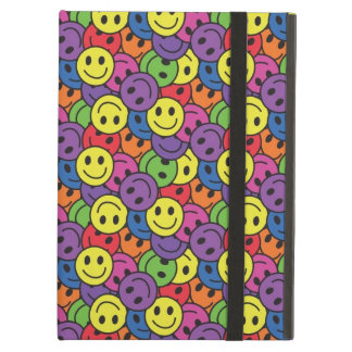 Smiley Faces Retro Hippy Pattern iPad Cover
