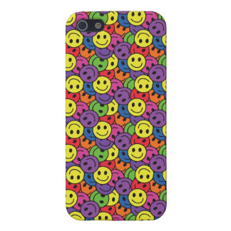 Smiley Faces Retro Hippy Pattern Covers For iPhone 5