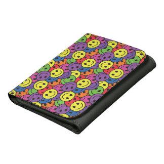 Smiley Faces Retro Hippy Pattern Wallets