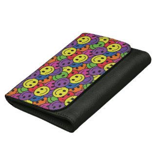 Smiley Faces Retro Hippy Pattern Women's Wallet