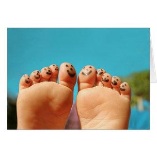Smiley Feet Card