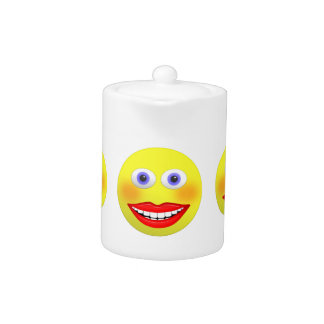 Smiley Female With Big Smiling Mouth Tea Pot