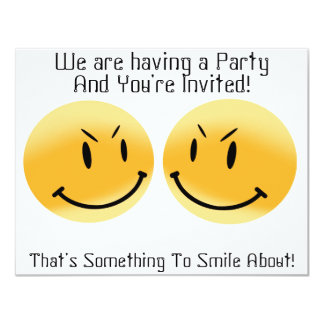 Smiley Friends - Party Invitation