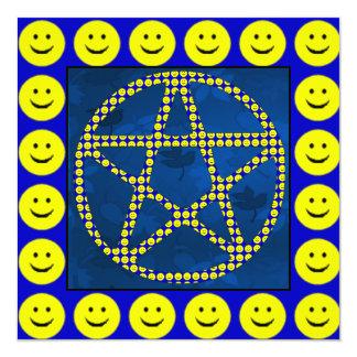 Smiley Pentacle Card