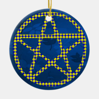 Smiley Pentacle Christmas Ornament
