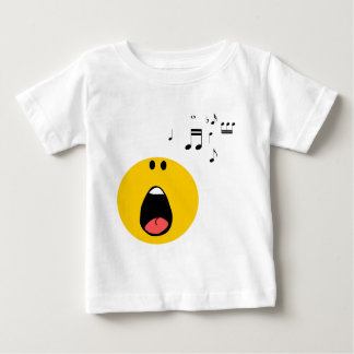 Smiley singing his little heart out baby T-Shirt