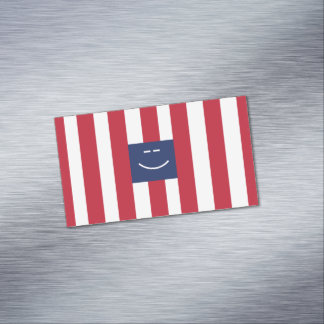 Smiley Square Magnetic Business Cards