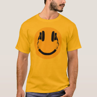 smiley with headphones T-Shirt
