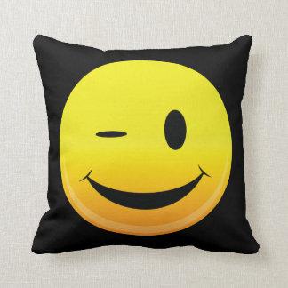 Smilie Face Wink Cushion