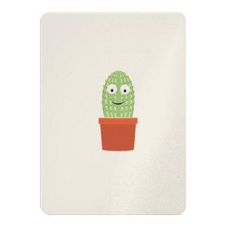 Smiling cactus 13 cm x 18 cm invitation card