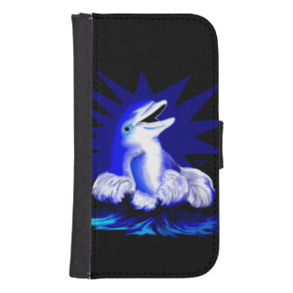 Smiling Dolphin Samsung S4 Wallet Case